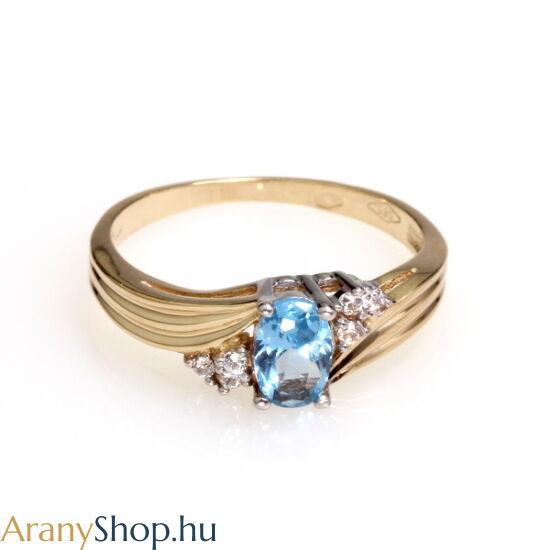 14 karátos arany gyűrű cirkónia kővel