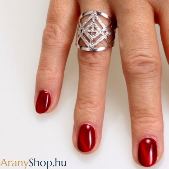 Ezüst nyitott női gyűrű