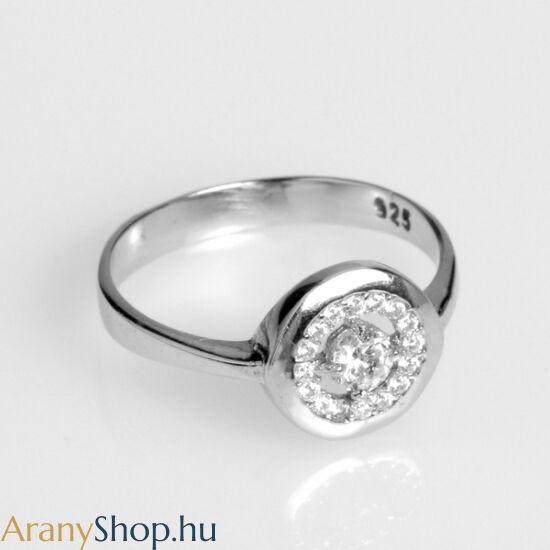 Ezüst női gyűrű cirkónia kővel