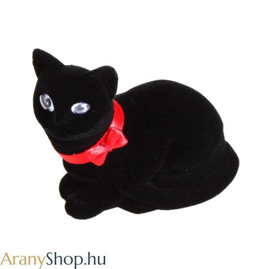 Fekete cica ékszerdoboz