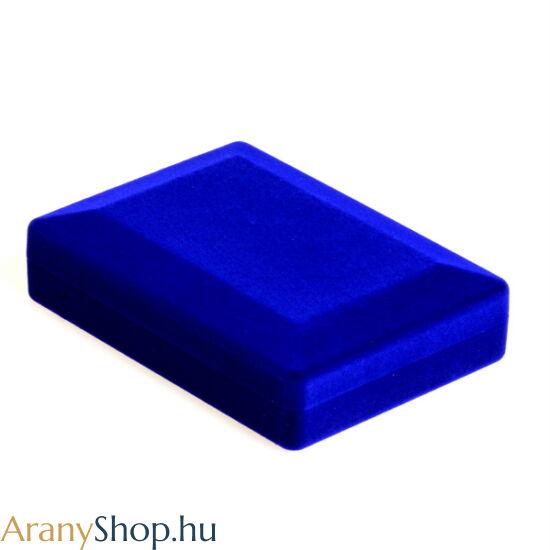 Nyakláncos kék bársony ékszerdoboz