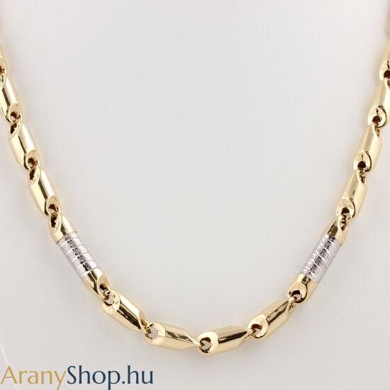 14 karátos arany barakka nyaklánc