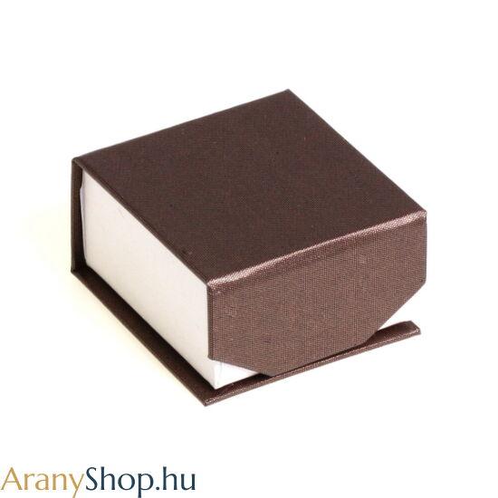 Fülbevalós barna mágneses ékszerdoboz