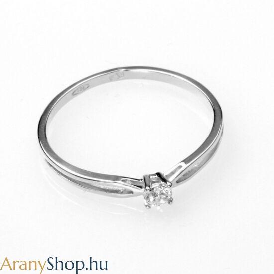 14karátos fehér arany eljegyzési gyűrű