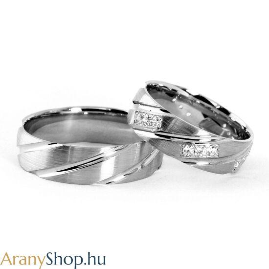 14 karátos arany karikagyűrűpár