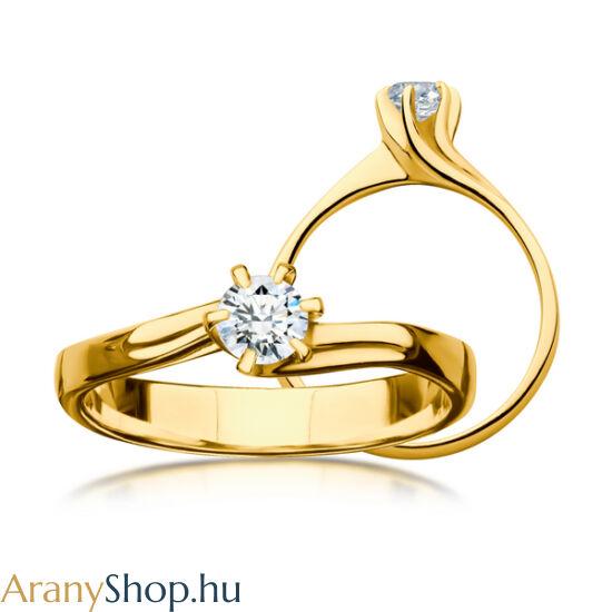 35f5d183a5 14 karátos sárga arany eljegyzési gyűrű gyémánttal - Arany eljegyzési ...