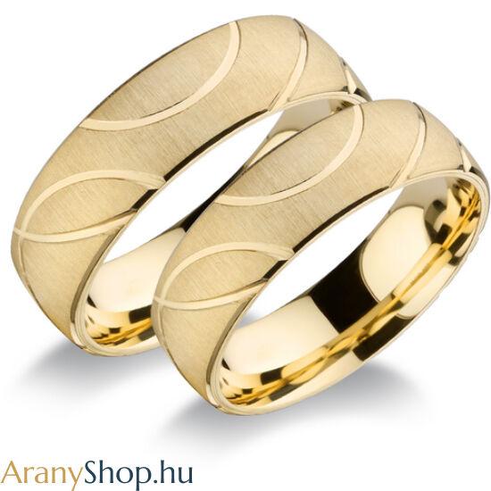 14k sárga arany super könnyű karikagyűrűpár