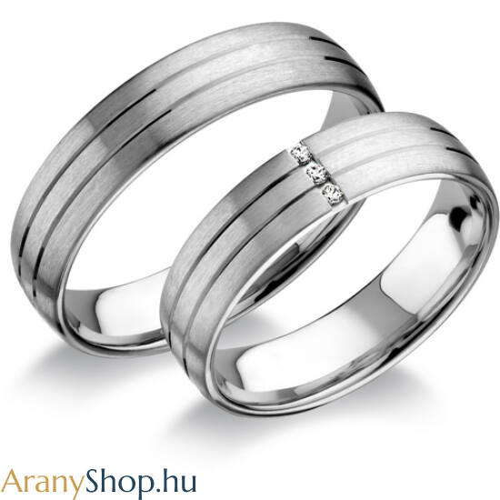 14 karátos fehér arany karikagyűrűpár