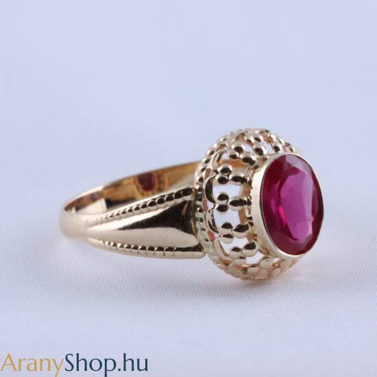 14k arany gyűrű cirkónia kővel