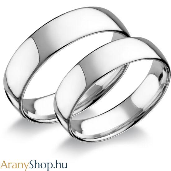 Ezüst sima karikagyűrűpár
