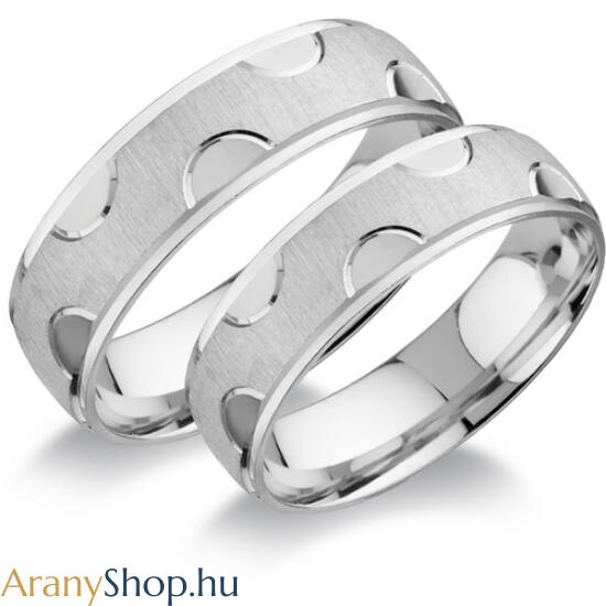 Ezüst karikagyűrűpár