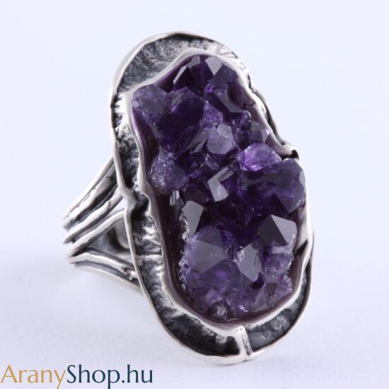 Ezüst gyűrű ametiszttel