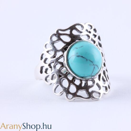 Ezüst gyűrű türkizzel